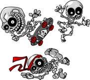 Squelettes sauvages de dessin animé de vecteur illustration de vecteur