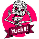 squelettes T-shirt yuck Photos stock