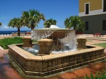 Squere e fontana a vecchio San Juan Fotografia Stock Libera da Diritti