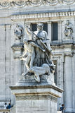 Squere venice the Victorian. Statue of the unknown military in rome Royalty Free Stock Photo