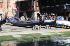 Squero av Venedig Italien Fotografering för Bildbyråer