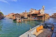 Squero di San Travaso, Venedig Arkivfoto
