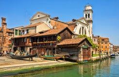 Squero Di San Trovaso, Venetië, Italië Royalty-vrije Stock Fotografie