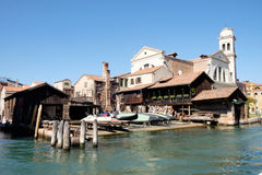 Squero gondola builders and repairs, Venice Royalty Free Stock Photos