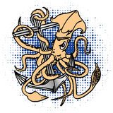 Squid-anchor Royalty Free Stock Photography