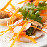 Squid Appetizers Royalty Free Stock Photography