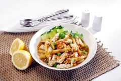 Squid with baby corn Royalty Free Stock Images