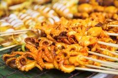 Squid Barbecue Stock Images