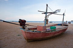 Squid boat2. This squid boat is preparing for the night working on the sea royalty free stock photos