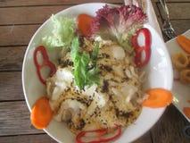 Sea Food - Squid Bowl in Cream Royalty Free Stock Photos