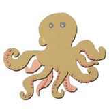 Squid cartoon made form tissue papercraft Royalty Free Stock Photography