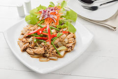 Squid. Chinese stir-fried squid with black pepper , garlic Stock Image