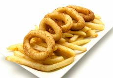 Squid and chips Stock Images