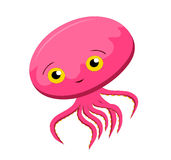 Squid so cute Royalty Free Stock Image