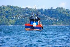 Squid Fishing Boat Royalty Free Stock Photos