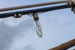 Squid fishing boat light bulb Royalty Free Stock Photos