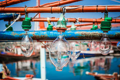 Squid fishing boat light bulb, Used for fishing Royalty Free Stock Image