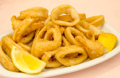 Squid fried foods Royalty Free Stock Photo
