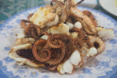 Squid grilled Stock Images