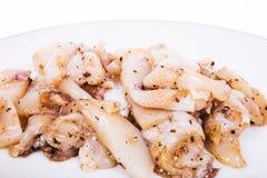 Squid marinated Stock Image