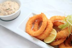Squid ring crispy Stock Photos