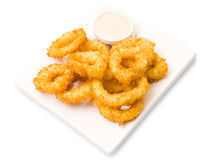 Squid rings, fried in batter Stock Photography