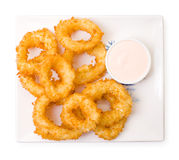 Squid rings, fried in batter Royalty Free Stock Photo