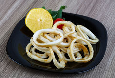 Squid rings Royalty Free Stock Images