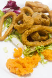Squid rings Royalty Free Stock Photos