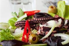 Squid salad. Greek squid salad with onions Stock Photo