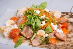 Squid salad with arugula Stock Photo