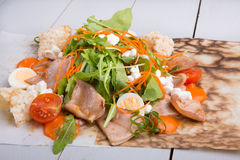 Squid salad with arugula Stock Photography