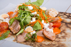 Squid salad with arugula Royalty Free Stock Images
