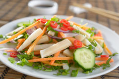 Squid salad Stock Image