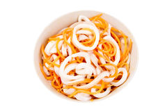Squid salad with carrots Stock Photography