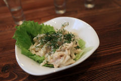 Squid salad with mayonnaise Stock Images