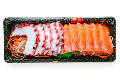 Squid with salmon Royalty Free Stock Photography