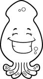 Squid Smiling Stock Image