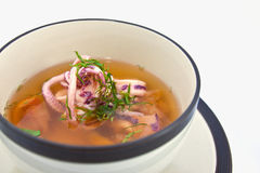 Squid soup Stock Photography