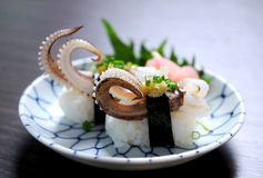 Squid sushi Stock Photography