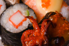 Squid Sushi Tako. Japan food Royalty Free Stock Photos