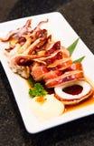 Squid teriyaki grill Royalty Free Stock Photo