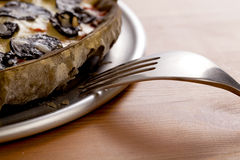 Squid Thin Crust Pizza_2013-5 Royalty Free Stock Image