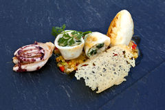 Squid and vegetable Royalty Free Stock Images