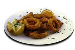 Squids to the Romana. Canarian recipe Stock Image