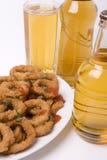 Squidsb und Bier Stockfoto