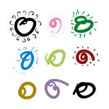 Squiggle assortment Stock Images