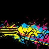 Squiggle Lines Splatter Vector Stock Image