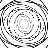 Squiggle, squiggly circles, ovals, lines. Spiral made of random Stock Photo