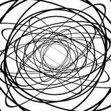 Squiggle, squiggly circles, ovals, lines. Spiral made of random Royalty Free Stock Photo